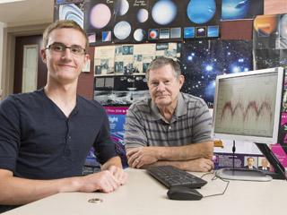 Dominik Fritz e il suo insegnante Ken Taylor. Crediti: SMU