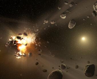 Rappresentazione artistica di una fase della formazione del Sistema solare. Crediti: NASA/JPL-Caltech