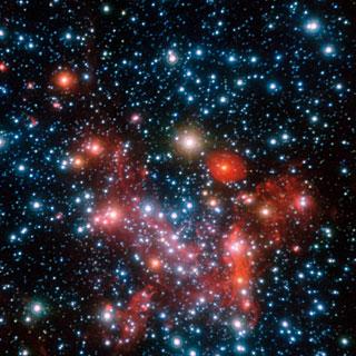 Il centro della Via Lattea osservato nel vicino infrarosso Credit: ESO/S. Gillessen et al.