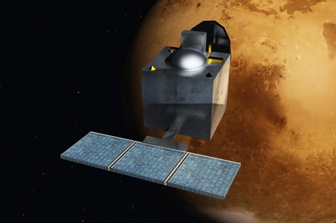 La sonda Mars Orbiter Mission (MOM), progettata e lanciata dall'Indian Space Research Organisation, proverà a rilevare la presenza di metano nell'atmosfera marziana cercando ulteriori prove a favore  di forme di vita primitiva sul quarto pianeta del Sistema Solare.