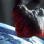 Impressione d'artista di un grande asteroide che sta per colpire la Terra  Credit: ESA
