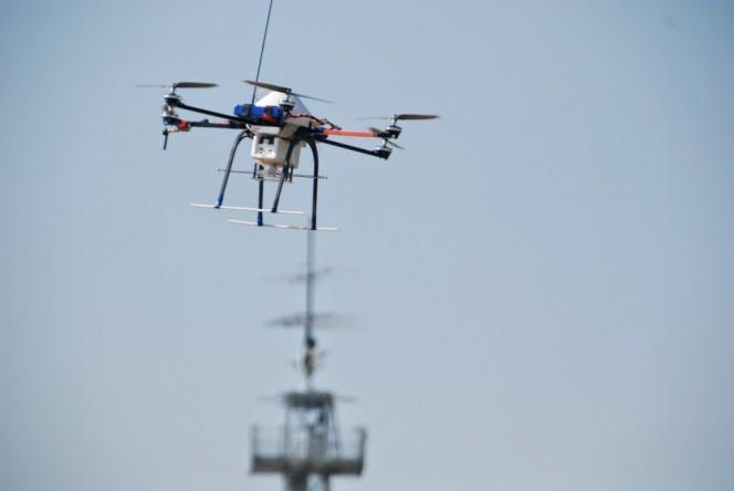 Il drone utilizzato presso l'Isituto di Radioastronomia a Medicina (Bologna).