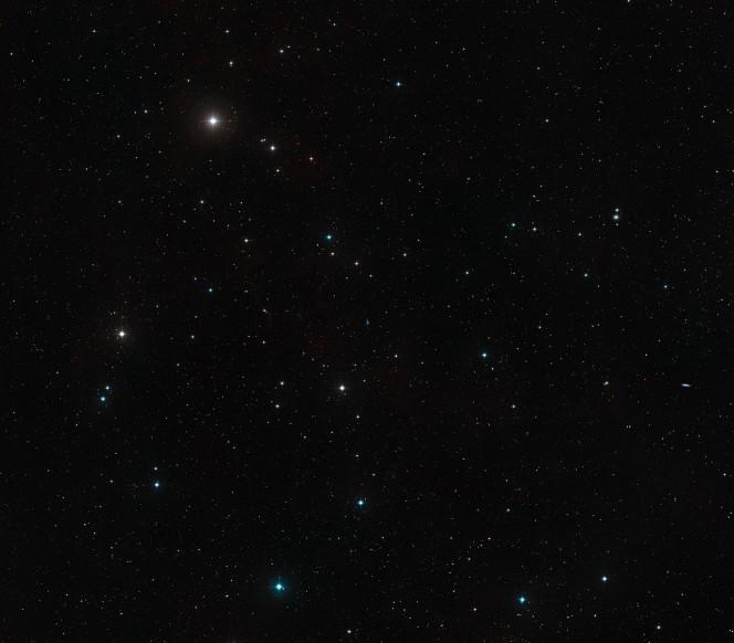 La regione in cui si trova DDO 68. Crediti: NASA, ESA, Digitized Sky Survey 2 (Acknowledgement: Davide De Martin)