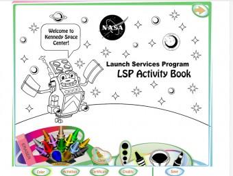 Il NASA Launch Service Program Activity Book, un'applicazione mobile per imparare giocando come si prepara il lancio di un vettore nello spazio. Crediti: NASA / LSP.