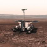Impressione d'artista del rover ExoMars su Marte, il suo lancio è attualmente previsto per il maggio 2018 Credit: ESA