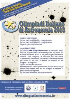 Locandina delle Olimpiadi Italiane di Astronomia 2015