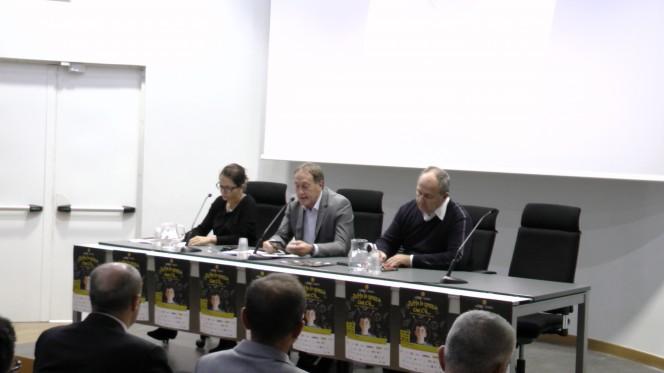 da sx l'assessore Elena Piastra, il sindaco Fabrizio Puppo, l'ex sindaco Aldo Corgiat