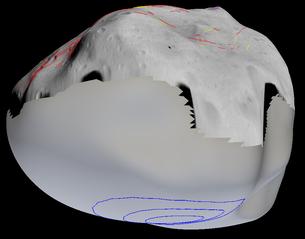La posizione del cratere Suspicio Credit: ESA