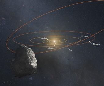 Illustrazione di un KBO, un oggetto della Fascia di Kuiper, ai bordi del Sistema Solare. Crediti: NASA, ESA, and G. Bacon (STScI)