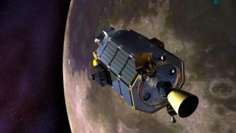 Rappresentazione artistica della sonda LADEE. Crediti: NASA