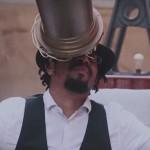 """Il rapper americano Mr. Lif, nel video musicale """"Cosmo"""", di Emcee O'Zi (girato presso l'INAF-Osservatorio Astronomico di Capodimonte."""