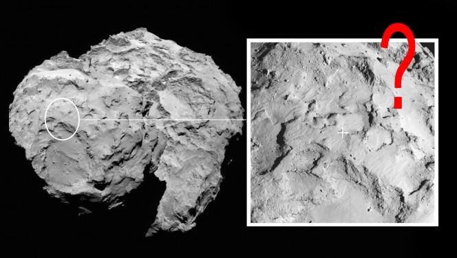 Sito J, il punto di approdo di Philae sulla cometa. Crediti: ESA/Rosetta/MPS for OSIRIS Team MPS/UPD/LAM/IAA/SSO/INTA/UPM/DASP/IDA
