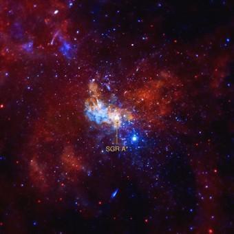L'immagine ripresa da Chandra attorno alla regione centrata su Sagittarius A*. Credit: NASA/CXC/Univ. of Wisconsin/Y.Bai. et al.