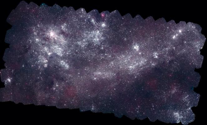 Questa immagine della Grande Nube di Magellano è presa nell'ultravioletto da Swift