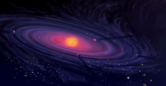 Rappresentazione artistica di un disco protoplanetario. Crediti: Pat Rawlings / NASA.