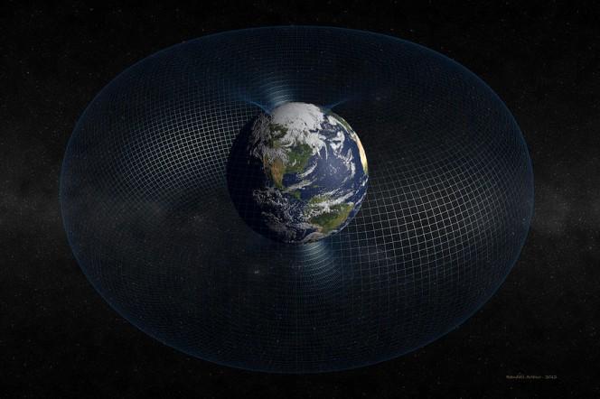 Le fasce di van Allen attorno al nostro pianeta, nel rendering di Randall Arthur.