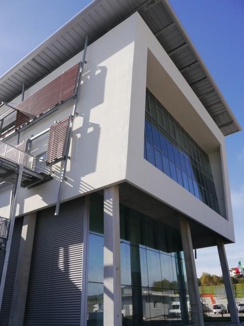 Il nuovo stabilimento Thales Alenia Space a L'Aquila, ricostruito dopo il sisma del 2009. Crediti: Stefano D'Amadio