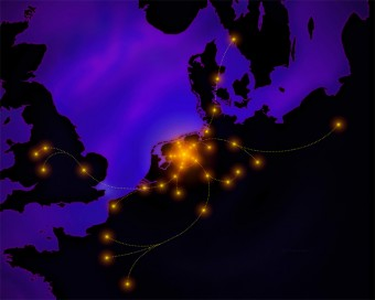 LOFAR (Low Frequency Array) è una rete di radiotelescopi centrata in Olanda e diffusa in altri paesi europei