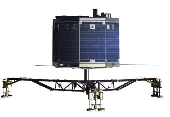 impressione d'artista del lander Philae, il primo manufatto umano mai disceso sul suolo di una cometa