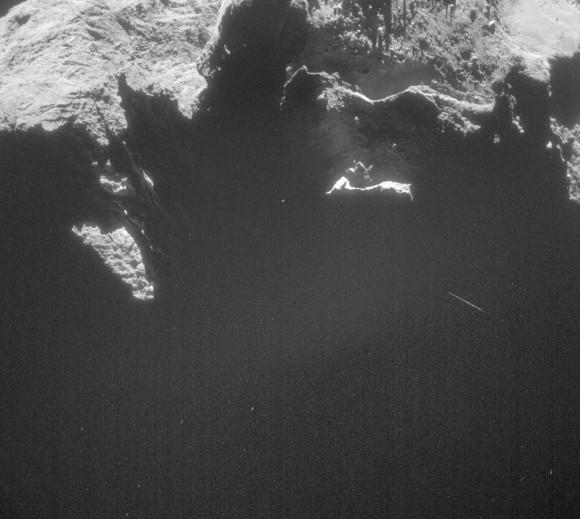 Immagine scattata dalla NAVCAM il 3 gennaio 2015. Crediti: ESA/Rosetta/NAVCAM