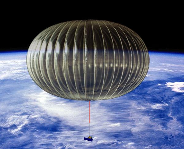 Uno dei palloni ULDB (Ultra long duration balloon), i cui test iniziarono nel 2001