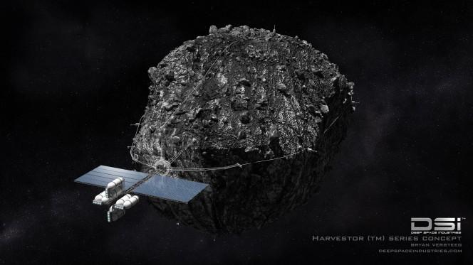 Un rendering del modulo che le Deep Space Industries intendono utilizzare nell'estrazione di minerali dagli asteroidi che si trovano in prossimità della Terra. Crediti: DSI.