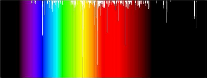 Un prisma separa per rifrazione la luce nei colori che compongono lo spettro visibile.