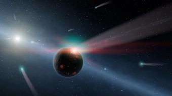 Rappresentazione artistica della stella Eta Corvi. Crediti: NASA/JPL-Caltech