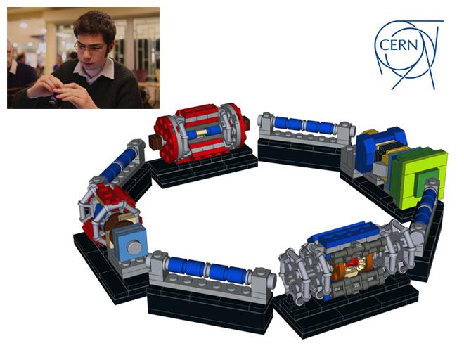 LHC in versione LEGO. Da un'idea di Nathan Readioff, nella foto. Crediti: Kate Shaw.
