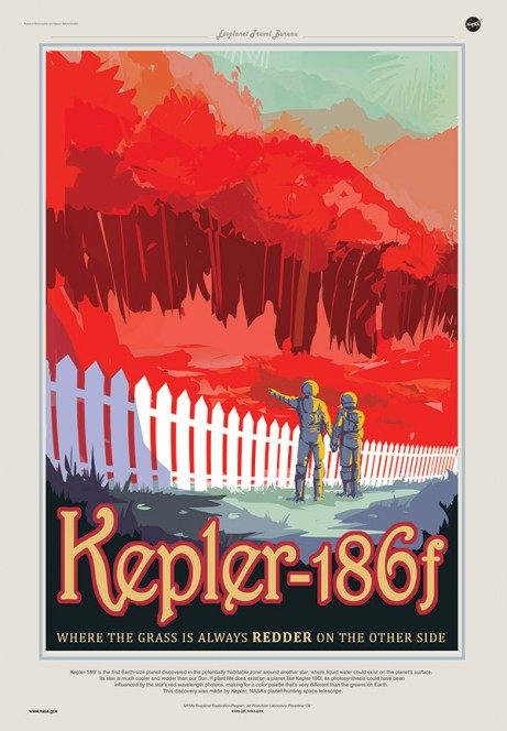 Kepler 186F: dove l'erba del vicino è sempre la più rossa. Crediti: JPL / NASA.