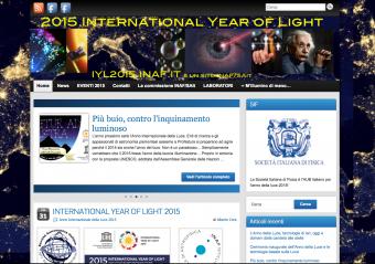 Il sito dell'INAF dedicato all'Anno Internazionale della Luce 2015 - iyl2015.inaf.it