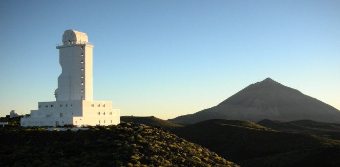 Il telescopio solare del Kiepenheuer Institute a Tenerife. Crediti: Pascalou Petit.