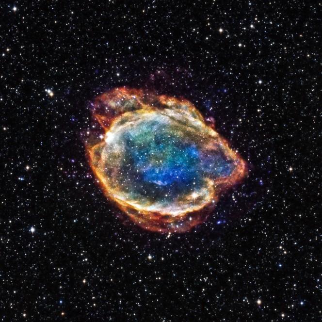Crediti: NASA / CXC / U. Texas / S. Post et al / 2MASS / U. Mass / IPAC-Caltech / NSF.