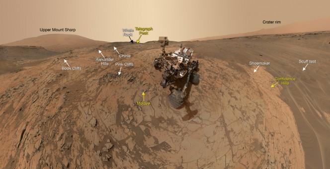 La stessa immagini ma con annotazioni. Crediti: NASA/JPL-Caltech/MSSS
