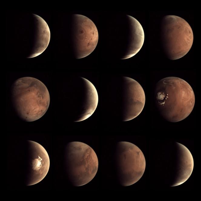 Il 2014, su Marte. Nell'obiettivo della fotocamera digitale a bassa risoluzione a bordo della sonda europea Mars Express (Visual Monitoring Camera). Crediti: ESA / Mars Express / VMC / Bill Dunford.