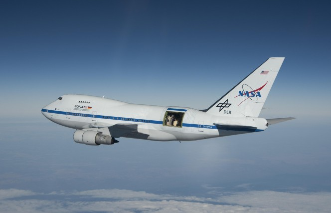 Stratospheric Observatory for Infrared Astronomy (SOFIA) . Crediti: NASA / Jim Ross