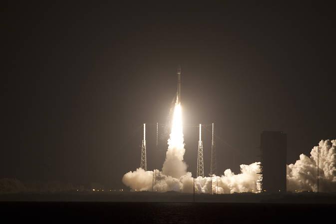 Il razzo United Launch Alliance Atlas V con a bordo la sonda Magnetospheric Multiscale (MMS) della NASA. Il tutto è stato lanciato dal Cape Canaveral Air Force Station Space Launch Complex 41, in Florida, giovedì 12 marzo. Crediti: NASA
