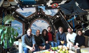 Il gruppo del TNG che ha partecipato all'impresa. Da sinistra a destra: Massimo Cecconi, Marco Pedani,  Sabrina Masiero, Manuel Gonzalez, Emilio Molinari,  Vincenzo Guido e Gloria Andreuzzi. Crediti: FGG-TNG.