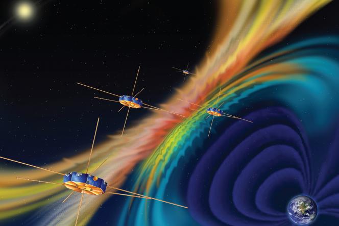 Rappresentazione artistica della sonda MSS. Crediti: NASA