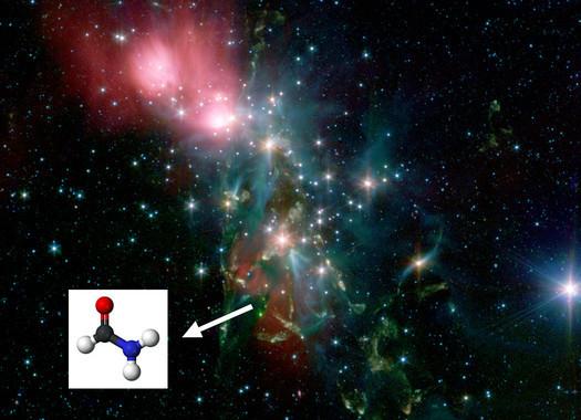 La Nebulosa NGC1333, una delle regioni di formazione stellare dove è stata rilevata la formammide. Crediti: NASA-Spitzer