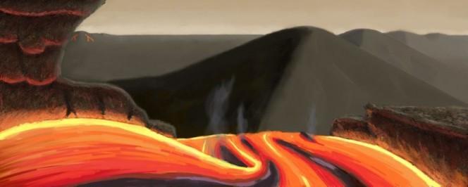 Una rappresentazione artistica di come potrebbe apparire un pianeta roccioso formatosi attorno alla stella Tau Ceti. Crediti: Joshua Gonzalez