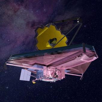 Una rappresentazione artistica del telescopio spaziale James Webb. Crediti: Northrop Grumman