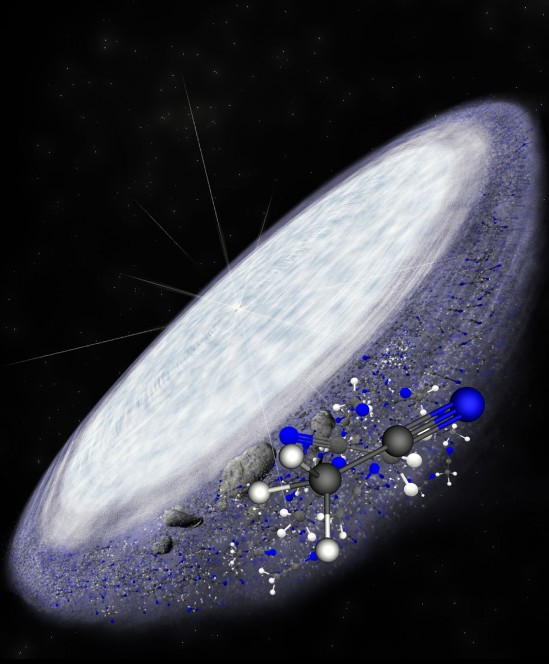 Artist impression of the protoplanetary disc surrounding the you