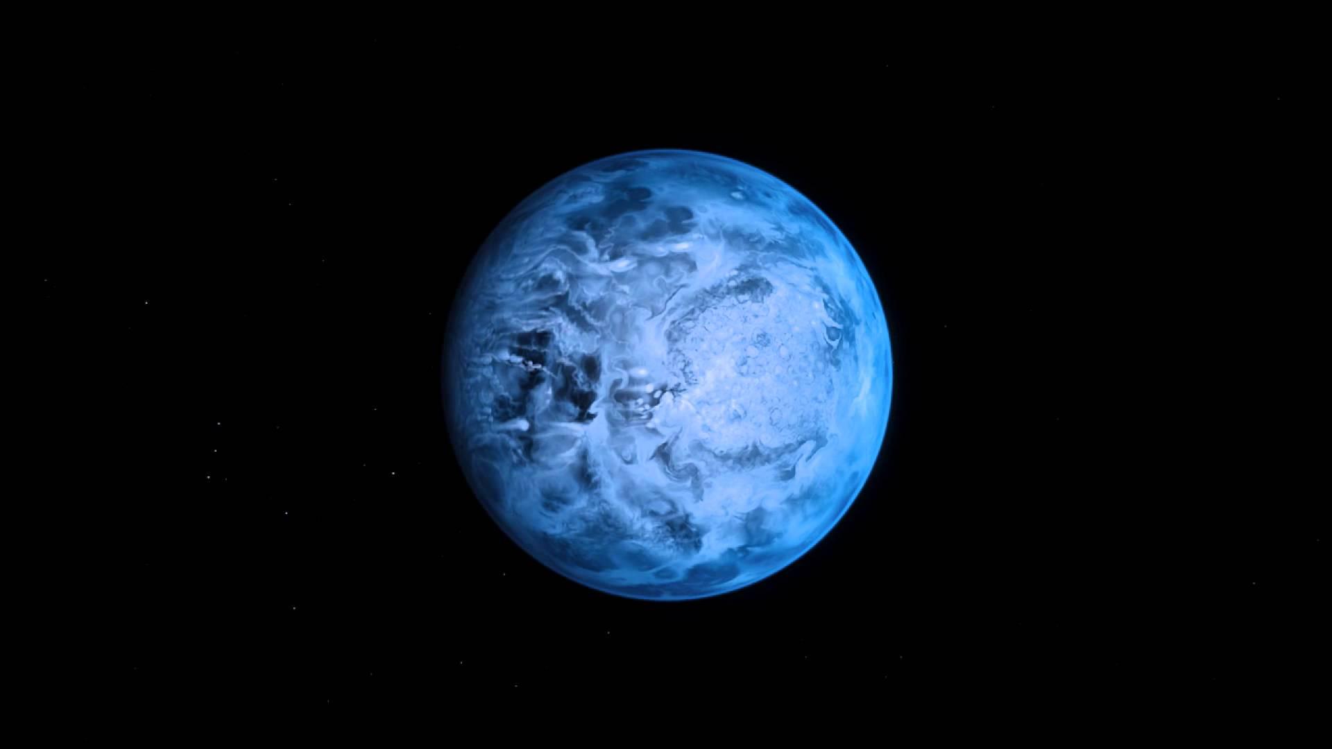 Rappresentazione artistica dell'esopianeta HD189733b