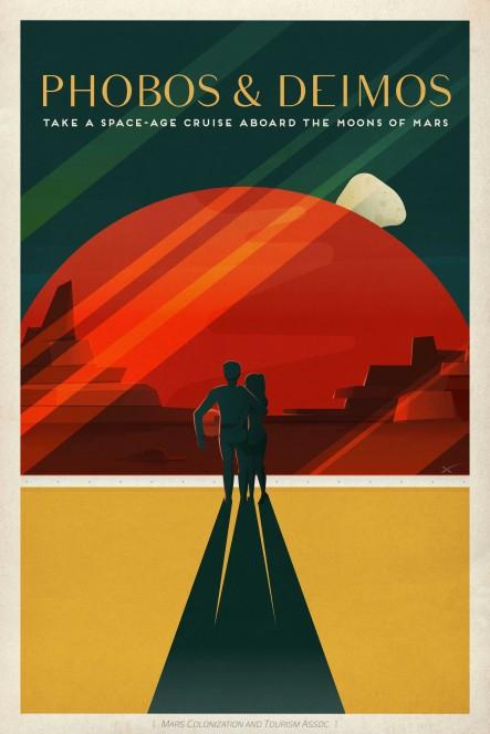 Phobos e Deimos, goditi la tua crociera spaziale sulle lune marziane. Crediti: SpaceX.