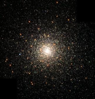 L'ammasso globulare M80; la sua distanza è stimata in circa 28.000 anni luce dal Sole e contiene centinaia di migliaia di stelle. Crediti: NASA, The Hubble Heritage Team, STScI, AURA