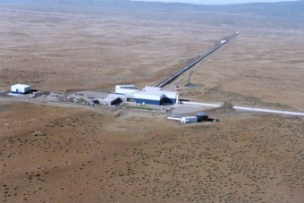 Vista aerea dell'Osservatorio LIGO ad Hanford. Crediti: LIGO Laboratory