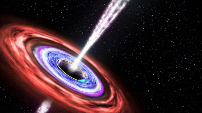 Impressione artistica di un Gamma Ray Burst. Credit: NASA/Swift/Cruz deWilde
