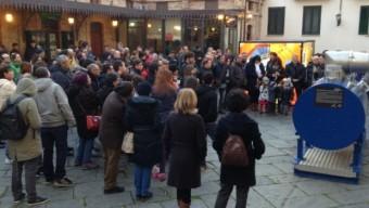 Un'affollata piazza di Campobasso in occasione di un evento dedicato al Bosone di Higgs Credits: Festival dell'Astronomia di Campobasso