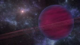 Rappresentazione artistica del pianeta VHS 1256b con la sua stella nana rossa sullo sfondo. Crediti: Gabriel Pérez - SMM (IAC)